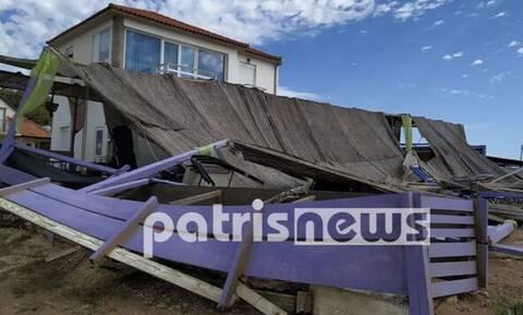 Καιρός: Εικόνες καταστροφής στην Κουρούτα Ηλείας