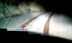 Ευρυτανία: Το... έστρωσε με χαλάζι στα 2.324 μέτρα!