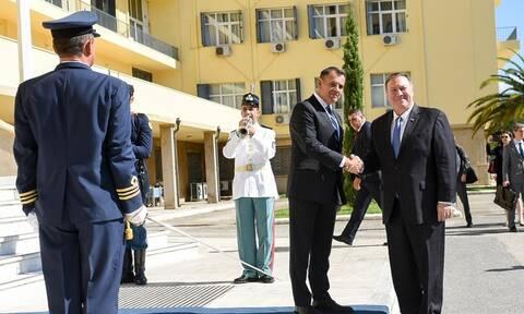 Συνάντηση Παναγιωτόπουλου με τον υπουργό Εξωτερικών των ΗΠΑ, Μάικ Πομπέο