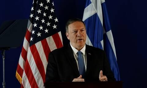 Πομπέο: Η νέα κυβέρνηση έχει βάλει σε σωστή πορεία την Ελλάδα από οικονομική άποψη (vid)