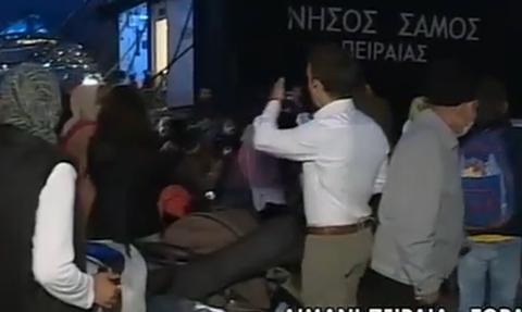 Беженцев из лагеря Мория на Лесбосе переселяют в центры на материковой части Греции