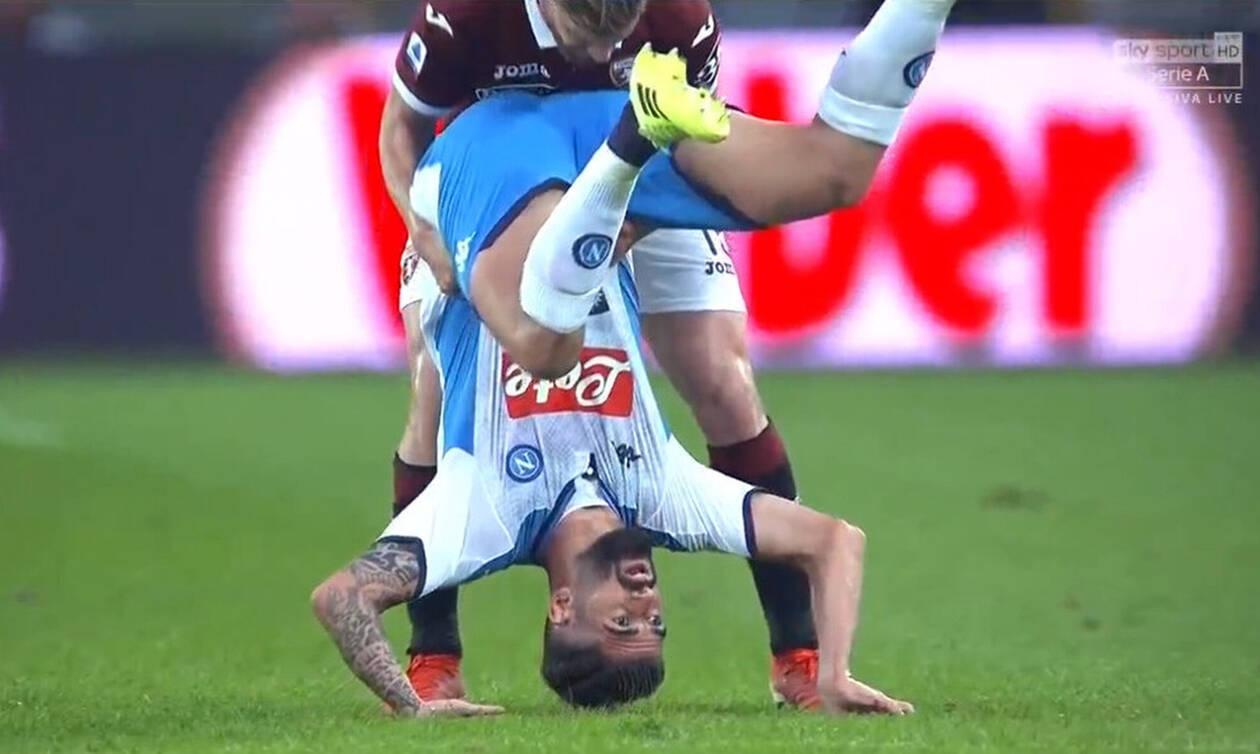 Σοκαριστικός τραυματισμός στο Νάπολι-Τορίνο (photos+video)