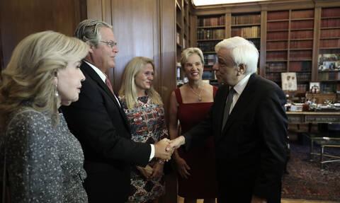 Συνάντηση Παυλόπουλου με Kerry Kennedy και Μαριάννα Βαρδινογιάννη