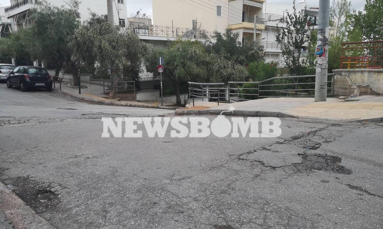 Τραγωδία στην Ηλιούπολη: Οι πρώτες εικόνες από το σημείο όπου καταπλακώθηκε ο οδηγός από το φορτηγό