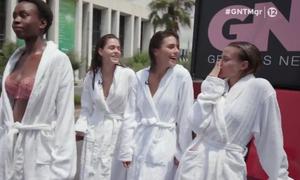 GNTM 2: Απίστευτο σκηνικό – Ζευγάρι τσακώθηκε στο δρόμο για τα μάτια των κοριτσιών (video)