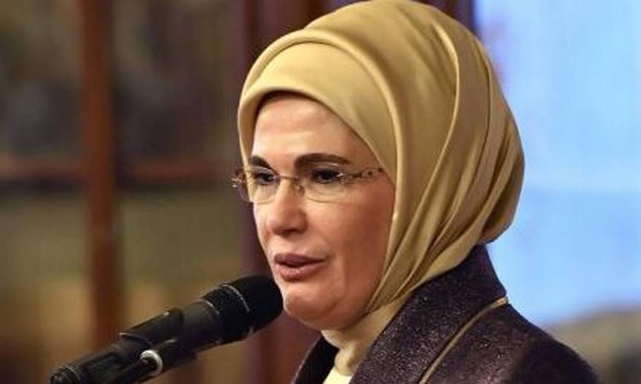 Σοβαρό επεισόδιο με τη γυναίκα του Ερντογάν: Χαμός σε καφετέρια
