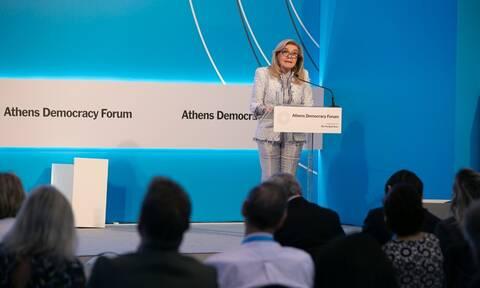Athens Democracy Forum: Μαριάννα Βαρδινογιάννη – Ορόσημο το 2020