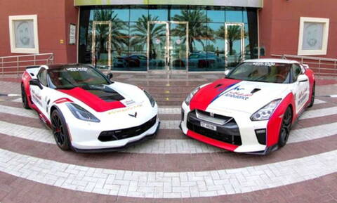 Ένα Nissan GT-R και μια Corvette όπως δεν τα έχετε ξαναδεί!