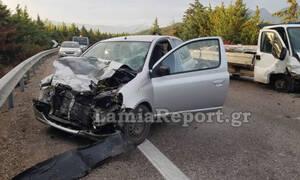Λαμία: Σφοδρό τροχαίο με τραυματισμούς