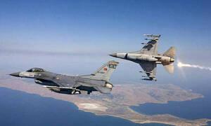 Πτήση τούρκικων μαχητικών πάνω από Οινούσσες και Παναγιά