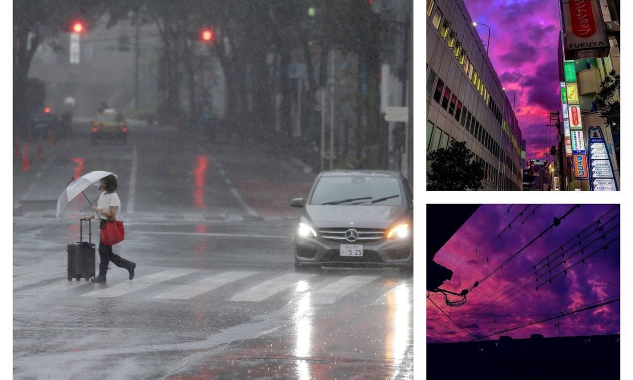 Ιαπωνία: Γιατί ο ουρανός βάφτηκε μωβ πριν την έλευση του τυφώνα «Hagibis»– Απόκοσμες εικόνες