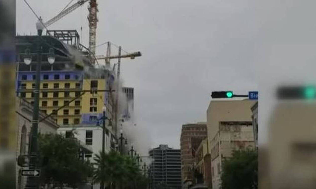 Απίστευτες εικόνες στη Νέα Ορλεάνη: Κατέρρευσε ξενοδοχείο - Ένας νεκρός