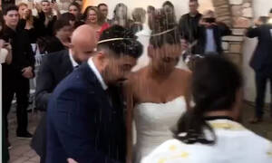 Παντελίδης - Φιλίππου: Η συγκινητική στιγμή στο γάμο όταν χόρεψαν το «Μένω εδώ» του Παντελή