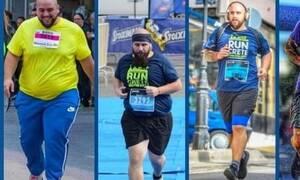 Αυτός είναι ο Έλληνας που έχασε 81 κιλά τρέχοντας στον Ημιμαραθώνιο Κρήτης!