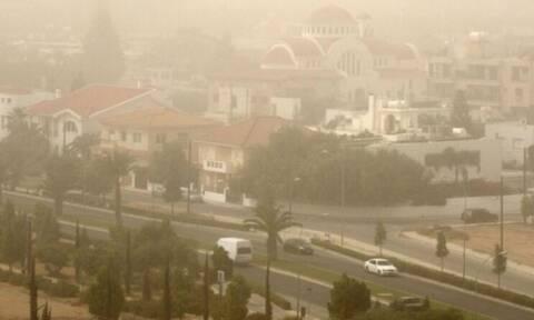 Кипр накрыла песчаная буря