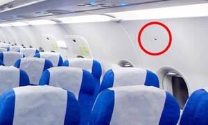 Απίστευτο: Δείτε τι σημαίνει το μικρό τριγωνάκι πάνω από τις θέσεις στο αεροπλάνο