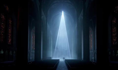 Φώτισαν τον Grace Cathedral στο Σαν Φρανσίσκο