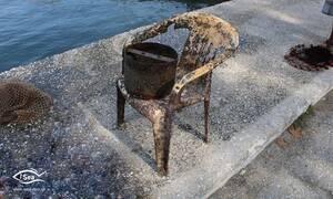 Θάσος: Ο καθαρισμός του βυθού αποκάλυψε το μέγεθος του προβλήματος (pics)
