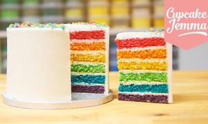 Το βίντεο που σας δείχνει πώς να φτιάξετε αυτή την τούρτα ουράνιο τόξο (vid)