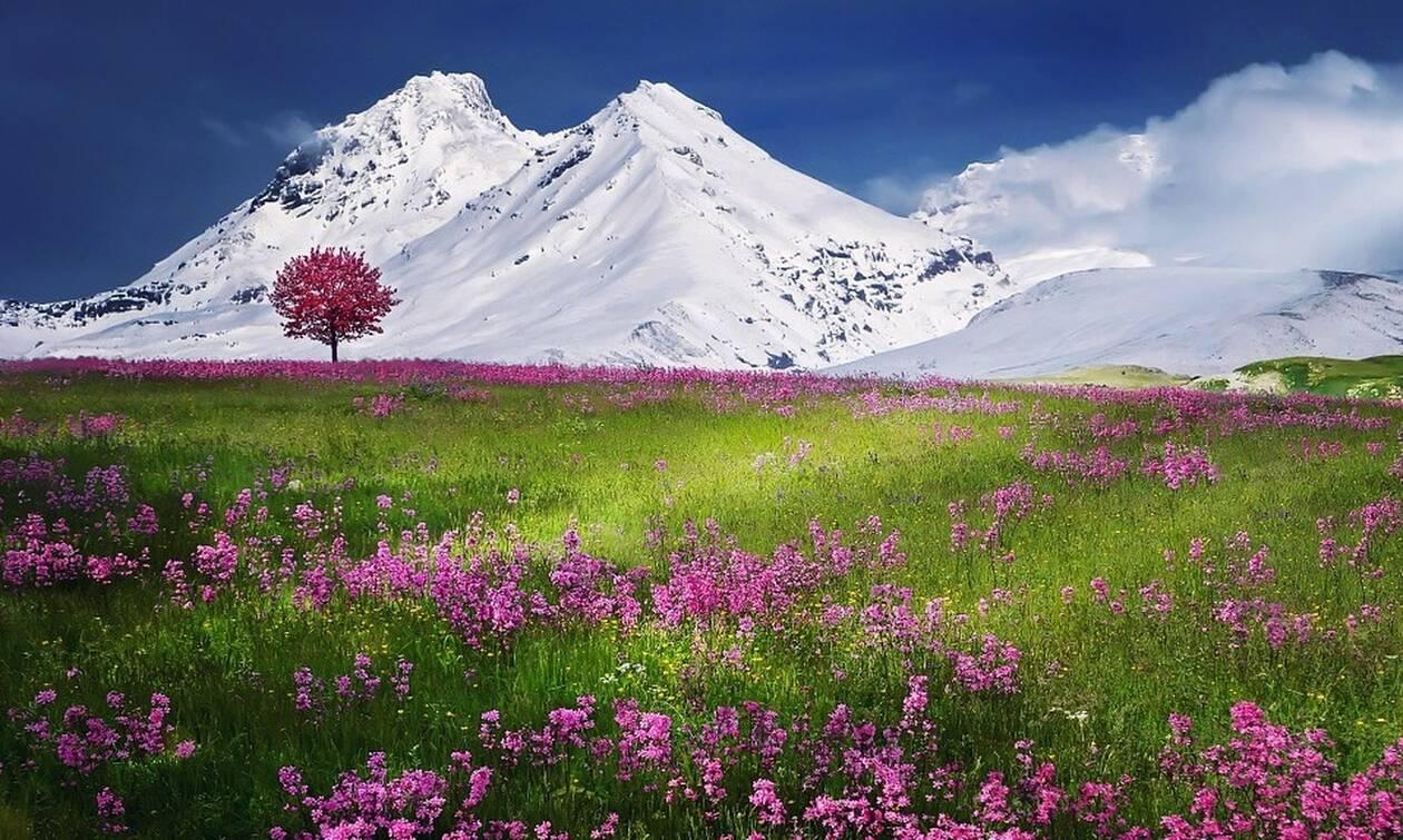 Ένα τεράστιο σύμβολο WiFi στις ελβετικές Άλπεις