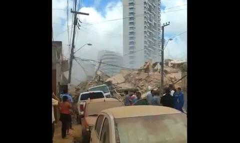 Τραγωδία στη Βραζιλία: Κατέρρευσε επταώροφο κτήριο - Τουλάχιστον ένας νεκρός (vids)