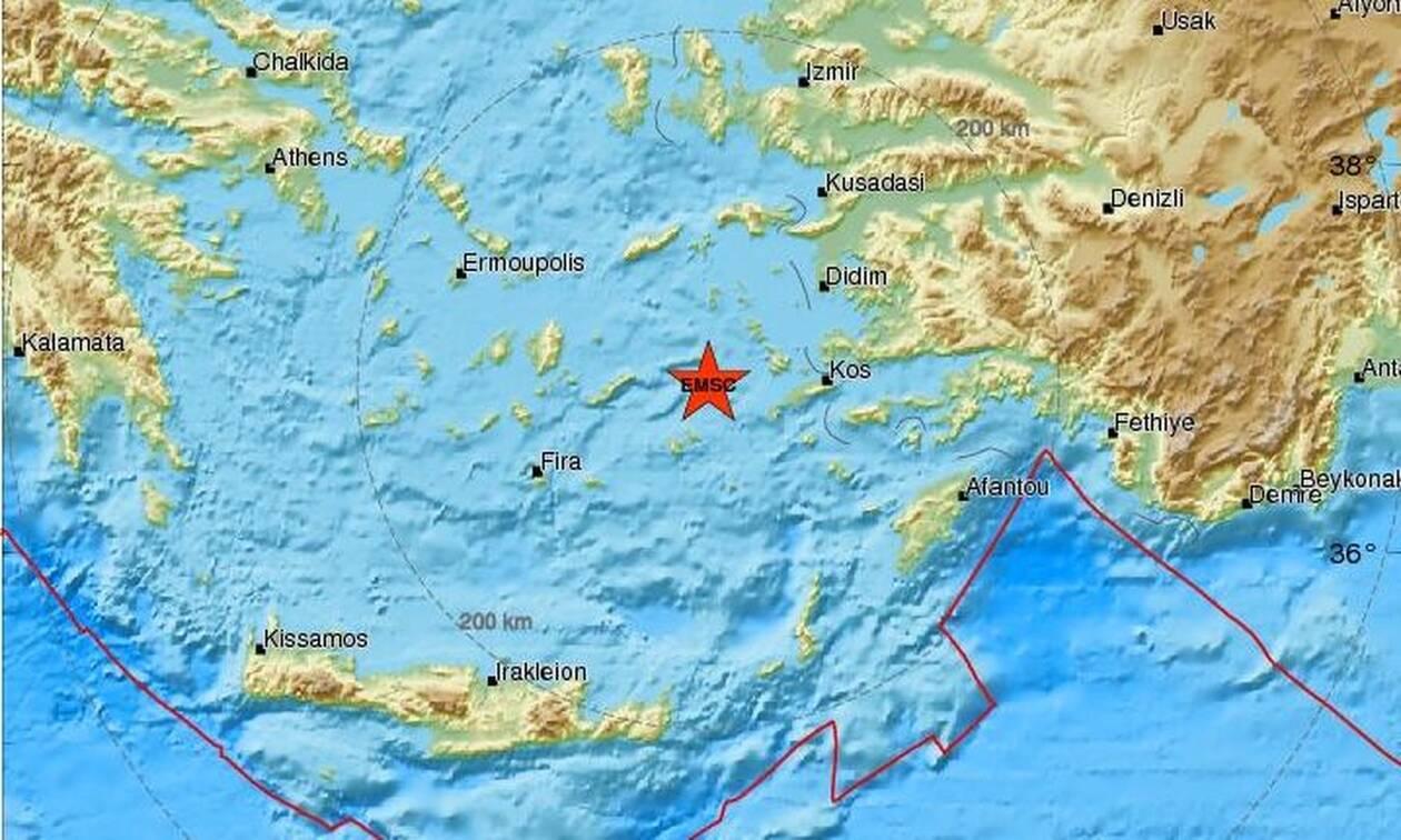 Σεισμός μεταξύ Κω και Αμοργού (pics)