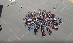 Ανατριχίλα: Μαθητές σχημάτισαν τον Ήλιο της Βεργίνας στα Γρεβενά τραγουδώντας «Μακεδονία Ξακουστή»