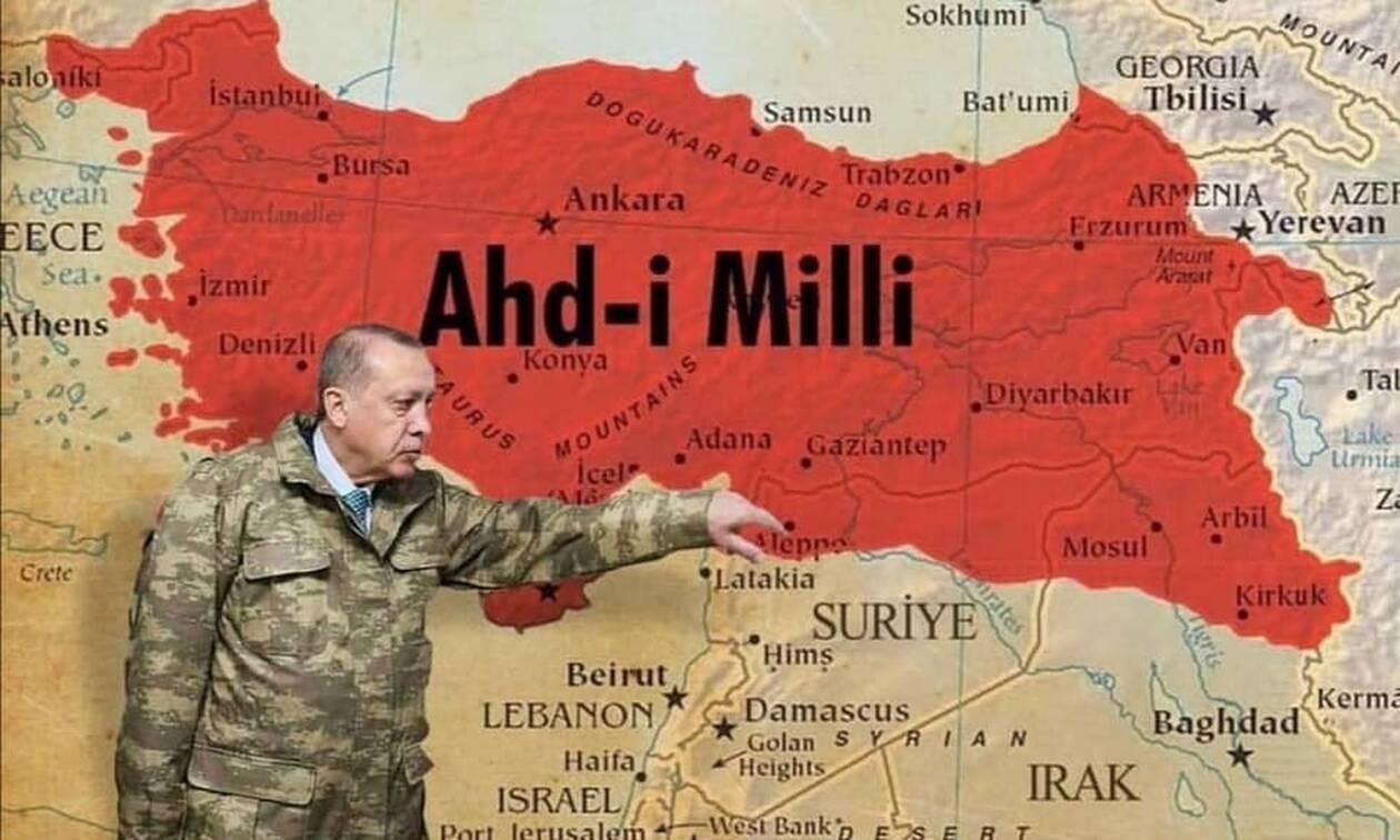 Χάρτες-ΣΟΚ από τουρκική ιστοσελίδα: Θράκη, Μακεδονία, Αιγαίο και Κύπρος στα χρώματα της Τουρκίας