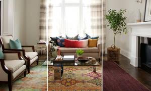 Ιδέες & tips για να μεταμορφώσετε το καθιστικό σας με ένα μόνο χαλί (vid)