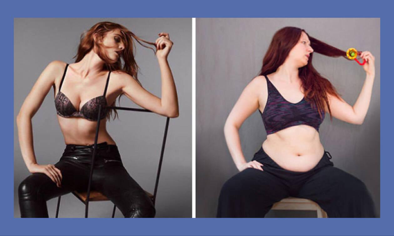 Οι φωτογραφίες αυτής της μαμάς κρύβουν ένα σπουδαίο μήνυμα προς όλες τις γυναίκες (pics)