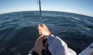 Αυτό που ψάρεψε στην Εύβοια θα το θυμάται για όλη του την ζωή