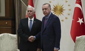 Ο φοβισμένος Ερντογάν τελικά συνάντησε τον Αντιπρόεδρο των ΗΠΑ, Μάικ Πενς