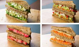 Πέντε συνταγές για υγιεινά σάντουιτς με λίγες θερμίδες (vid)