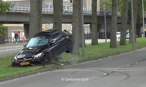Δύσκολη αποδείχθηκε η Mercedes AMG C 63 για έναν Ολλανδό (vid)