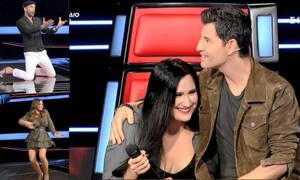 The Voice: Ο Πάνος έπεσε στα γόνατα, η Έλενα χόρεψε τσιφτετέλι και ο Σάκης το... γλεντούσε! (videos)
