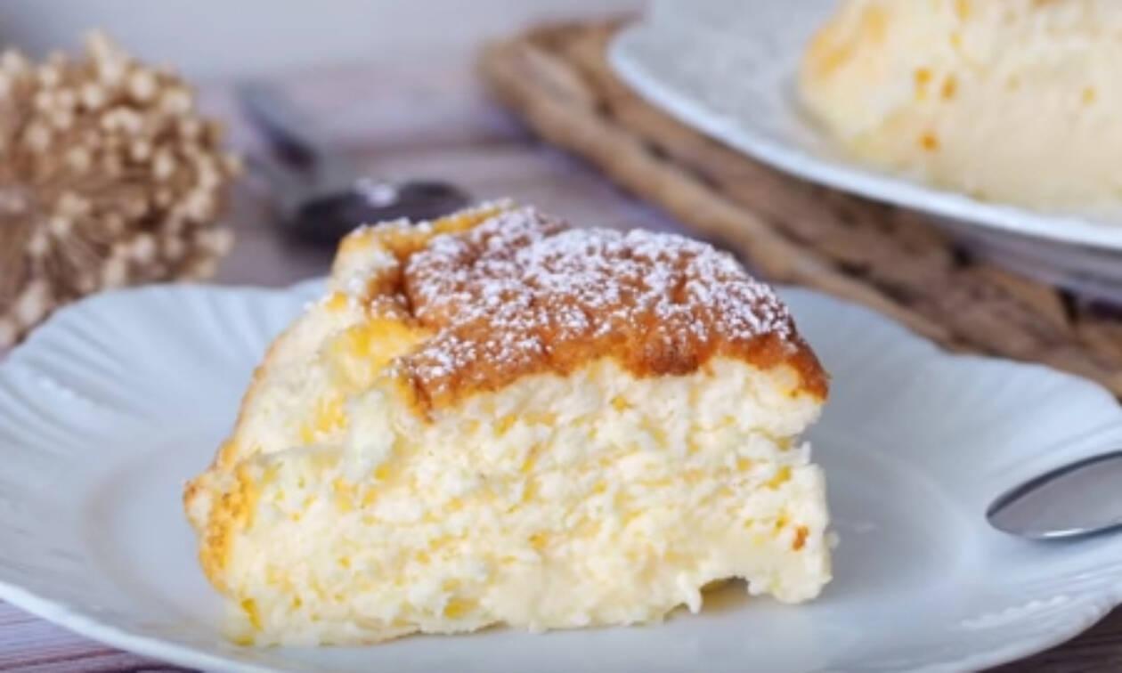 Συνταγή για αφράτο κέικ με γιαούρτι και άρωμα λεμονιού (vid)