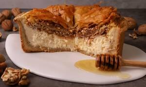 Η συνταγή της ημέρας: Cheesecake με μπακλαβά