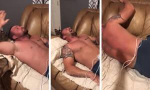 Βίωσε τους πόνους τοκετού και του κόπηκε η ανάσα  - Το βίντεο που έγινε viral (vid)