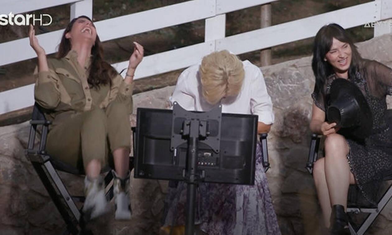 GNTM:  «Έλιωσαν» στο γέλιο η Ηλιάνα, η Έλενα και η Ζενεβιέβ με τις τούμπες των κοριτσιών! (video)