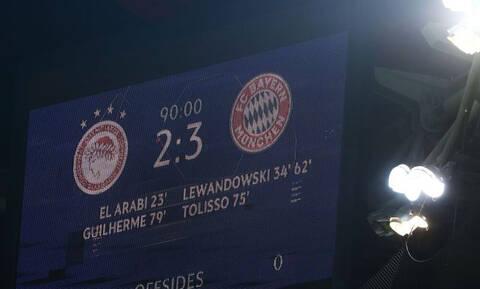 Ολυμπιακός-Μπάγερν Μονάχου 2-3: Δείτε τα highlights του αγώνα για το Champions League