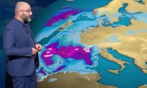 Καιρός: Ερχεται... Η προειδοποίηση του Σάκη Αρναούτογλου για την πρώτη ψυχρή εισβολή (video)