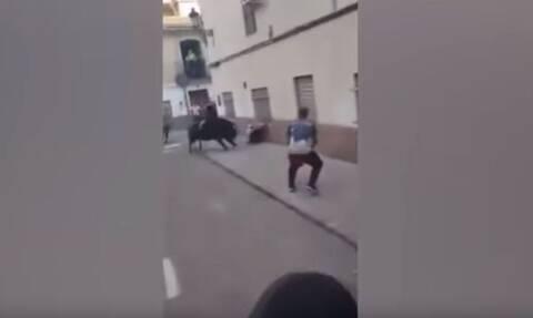 Φρίκη: Ταύρος επιτέθηκε σε άνδρα - Σοκαριστικές εικόνες