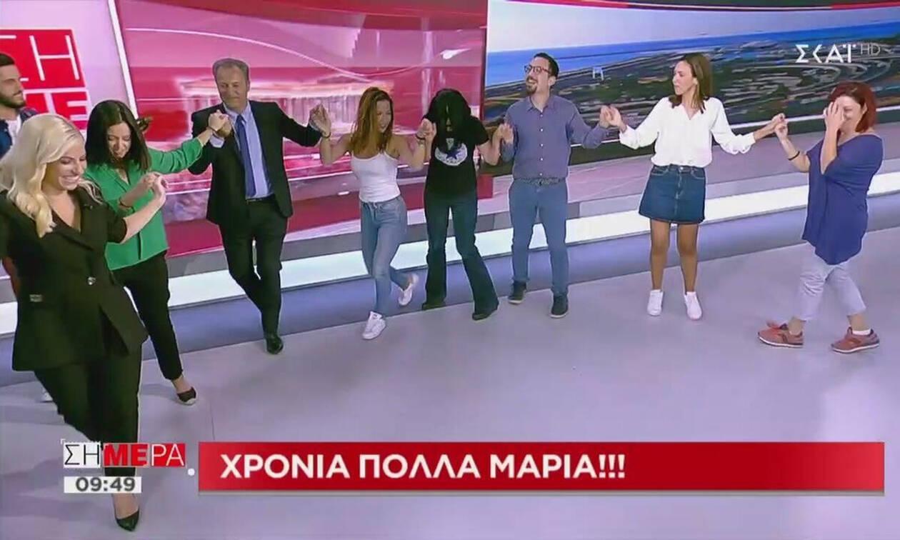 Σήμερα: Άφησαν το ρεπορτάζ και έπιασαν τα νησιώτικα! (video+photos)
