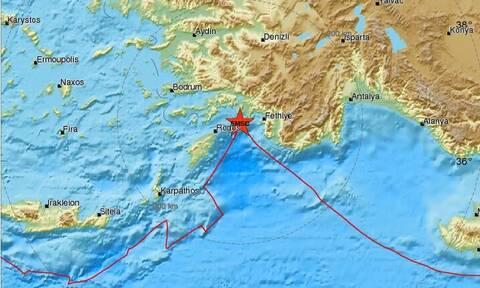 Σεισμός κοντά στη Ρόδο - Αισθητός σε πολλές περιοχές