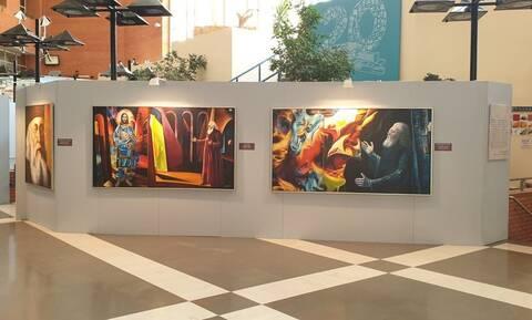 «Άγιος Λουκάς ο Ιατρός»: To νοσοκομείο Παπαγεωργίου τιμά τον εικαστικό Ευθύμιο Βαρλάμη (pics)
