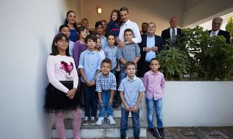 Επίσκεψη του Μητσοτάκη στο Παιδικό Χωριό SOS Πλαγιαρίου