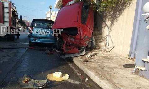 Χανιά: Αυτοκίνητο… πέταξε! Απίστευτο τροχαίο (pics)