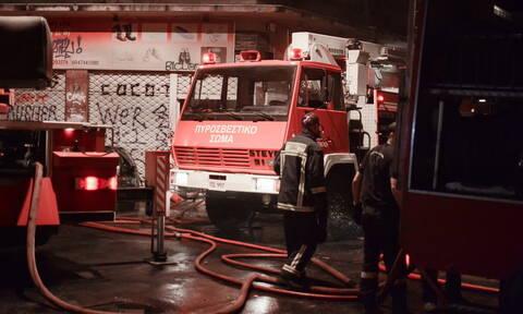 Στις φλόγες δίκυκλα στη Χαλκιδική