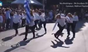 Σάλος στη Νέα Φιλαδέλφεια: Δείτε τι έκαναν μαθήτριες στην παρέλαση της 28ης Οκτωβρίου (pics)