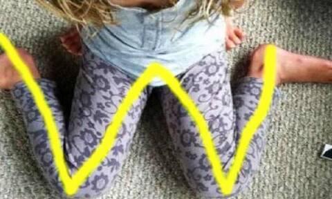 Γονείς προσοχή! Αν δείτε το παιδί σας να κάθεται έτσι, πρέπει να το σταματήσετε αμέσως (vid)